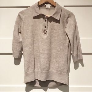Lacoste sheer back wool polo top